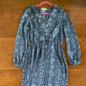 Michael Kors Snake print Faux wrap dress